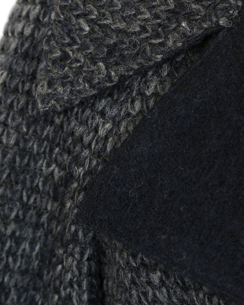 """Пальто из ткани с переплетением """"косы"""""""