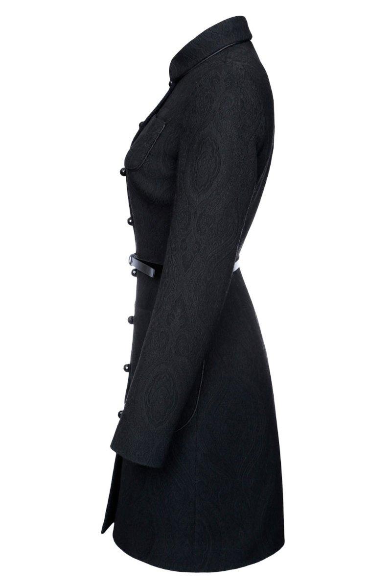 Пальто из жаккарда с накладными карманами