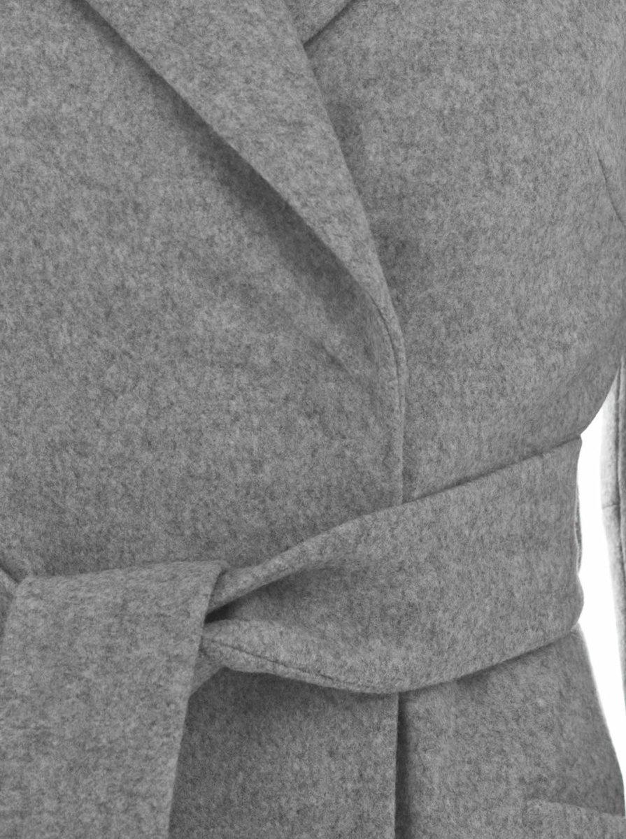 Пальто-кардиган серого цвета