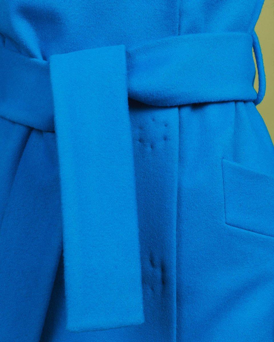 Пальто кардиган бирюзового цвета