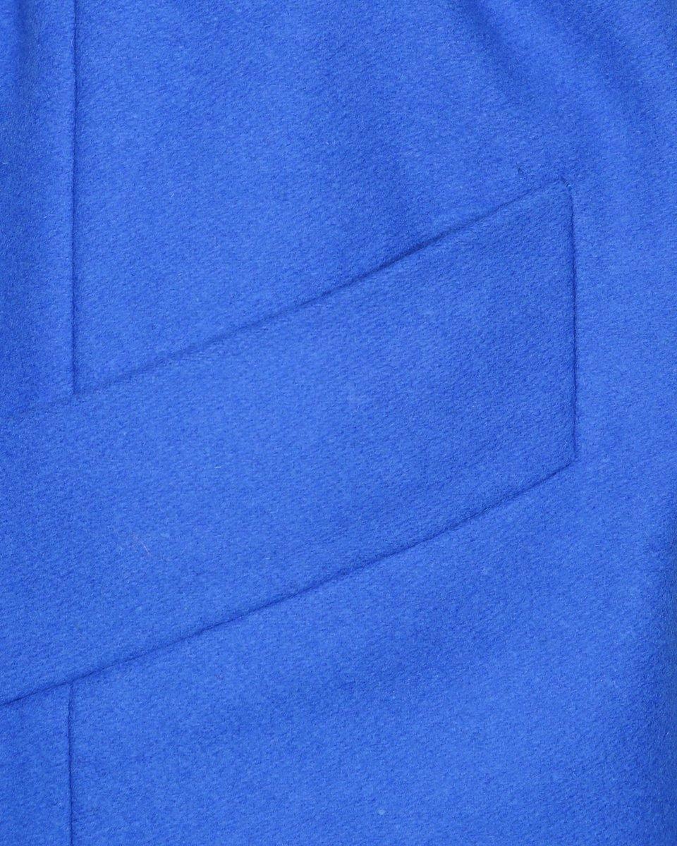 Пальто-кардиган василькового цвета