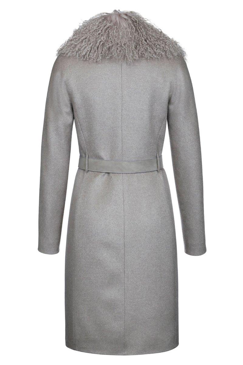 Зимнее пальто с цельнокроеным рукавом, бежевое
