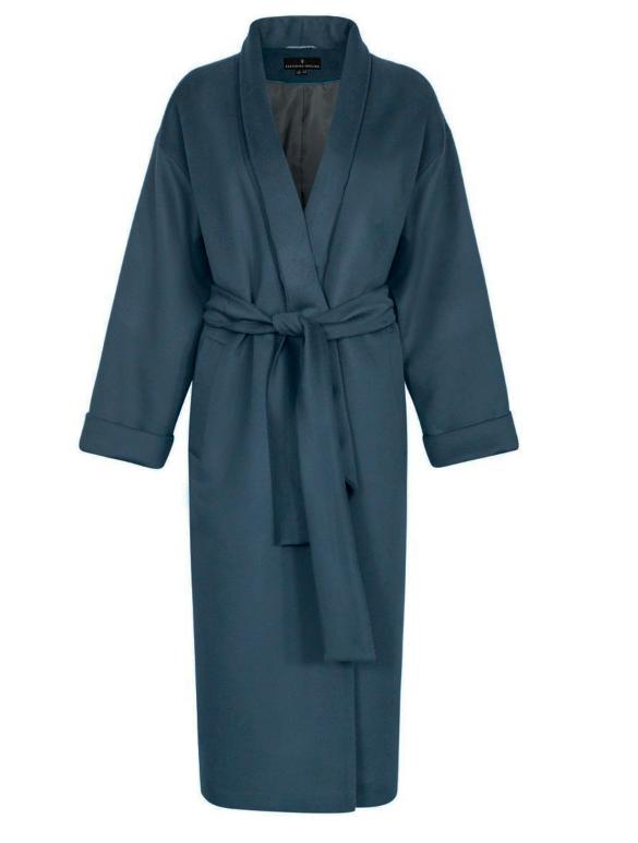 Пальто-кимоно цвета морской волны