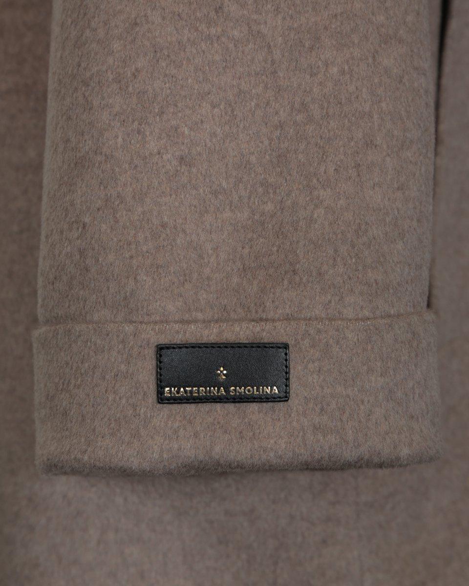 Пальто-кимоно светло-бежевого цвета