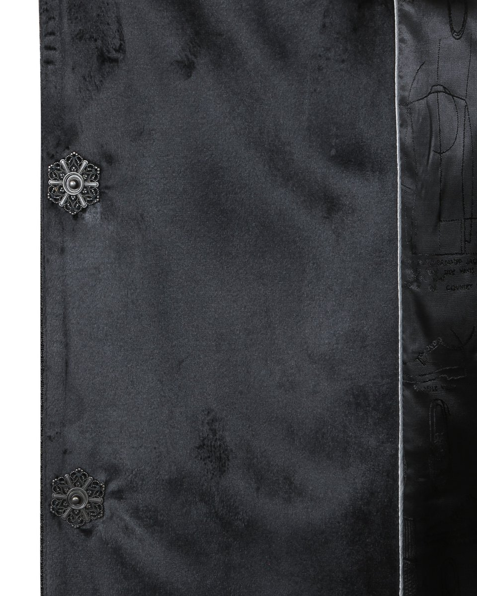Зимнее пальто с деталями из сетчатой ткани