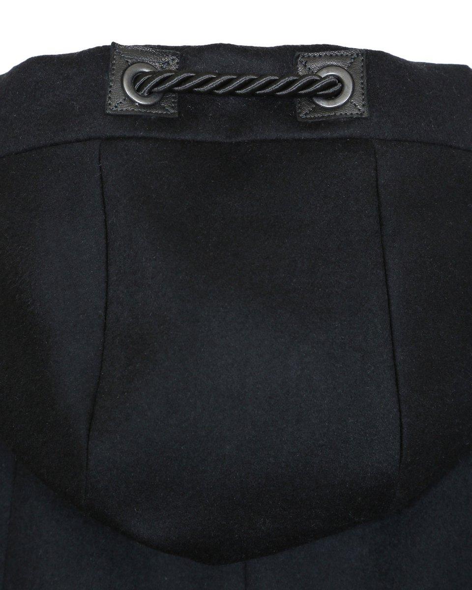 Мужское пальто прямого силуэта черного цвета
