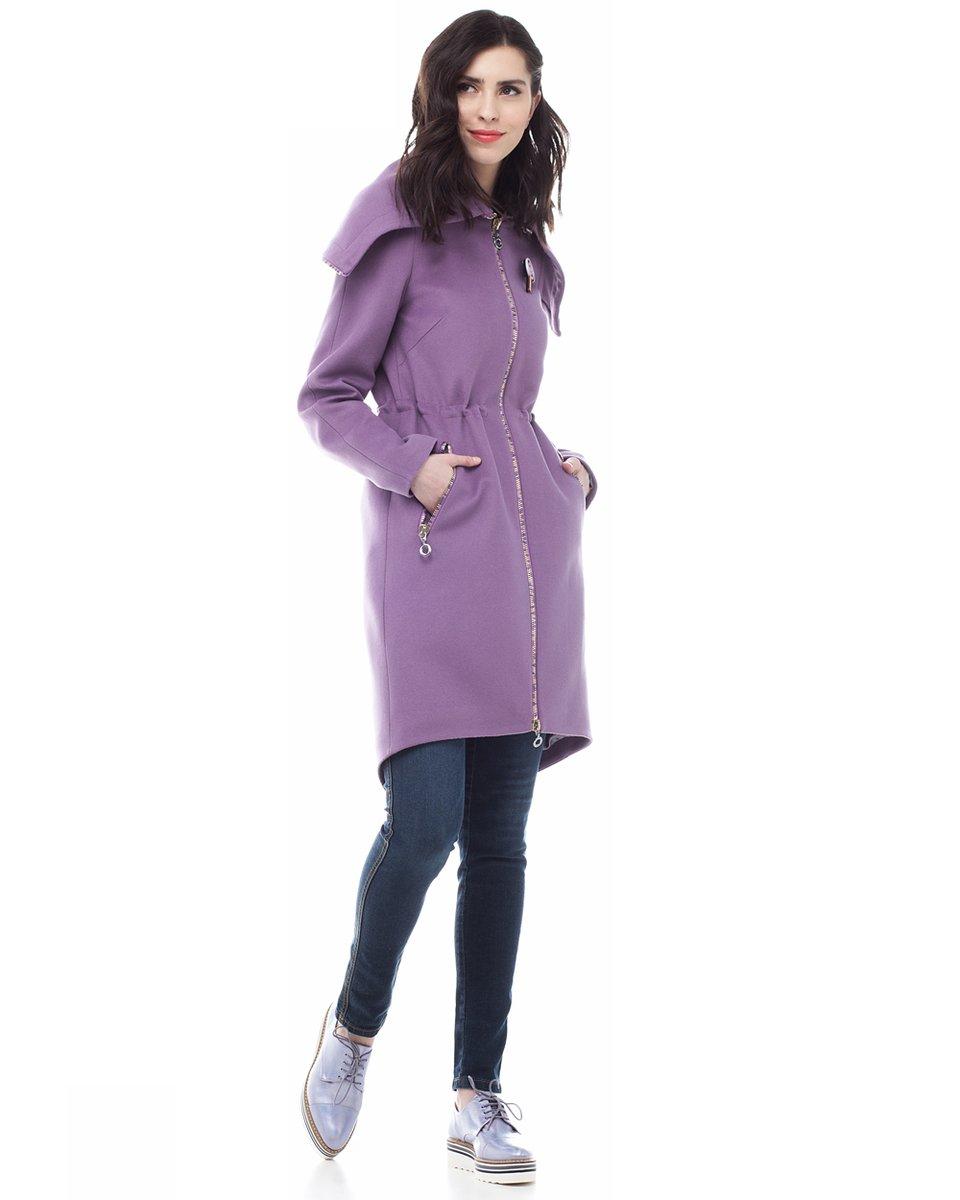 Пальто-парка цвета сирени