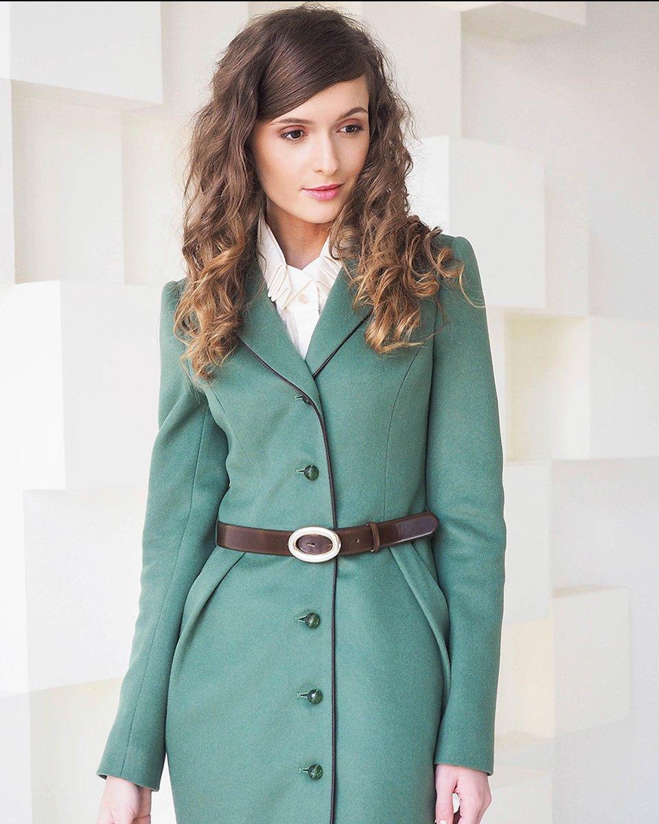 Пальто из шерсти с юбкой «тюльпан»