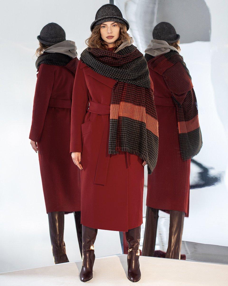 Зимнее пальто прямого кроя