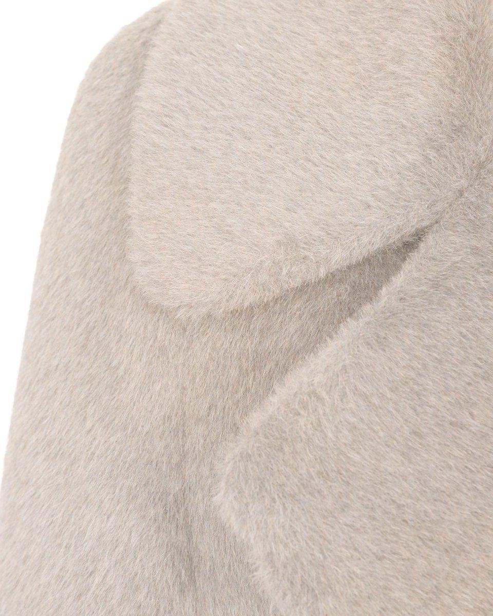 Пальто из кашемира и шерсти молочного цвета. Limited ed.