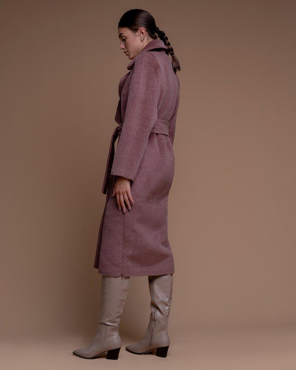 Пальто из кашемира и шерсти розового цвета. Limited ed.