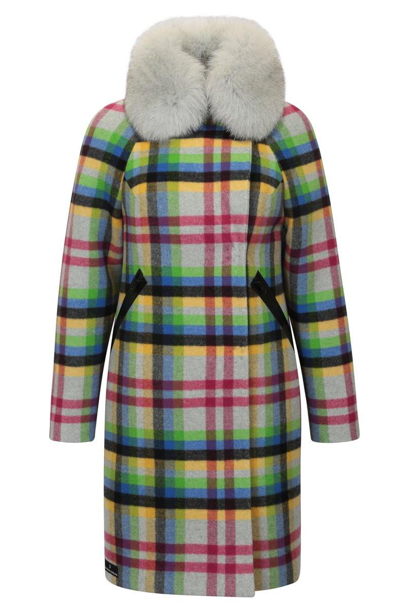 Пальто свободного кроя из высококачественной шерсти