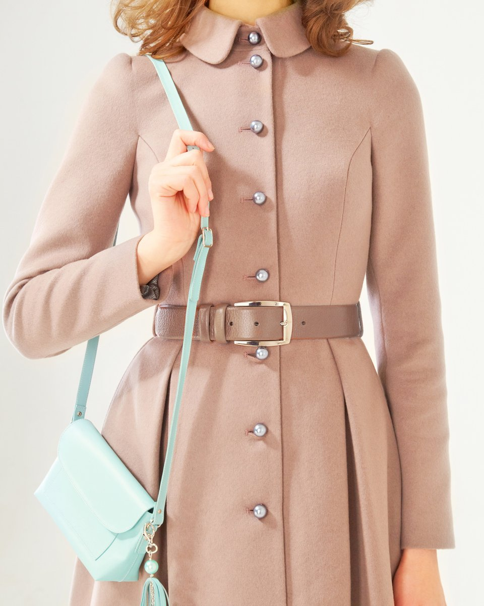 """Пальто с пышной юбкой, цвета """"кофе с молоком"""""""