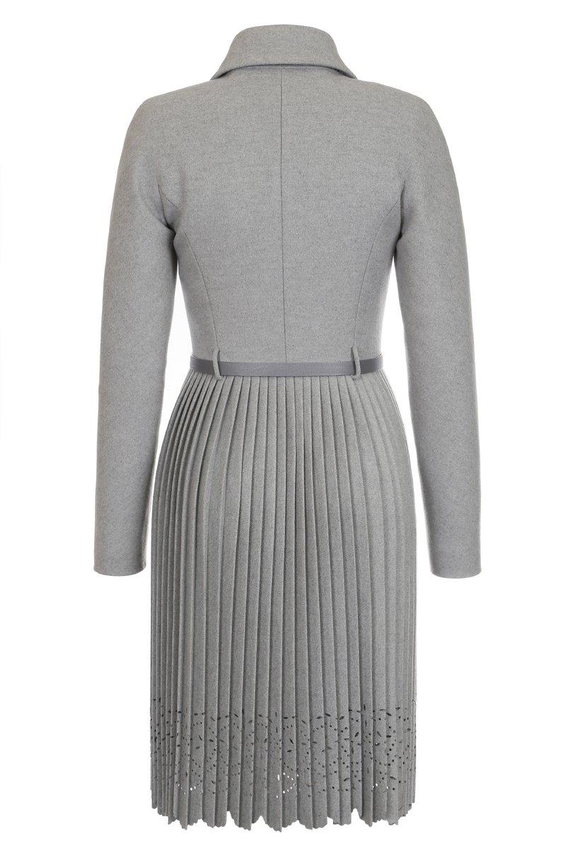 Пальто с юбкой-плиссе