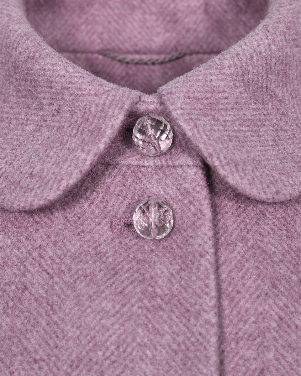 """Пальто с юбкой солнце розового цвета с узором""""елочка"""""""