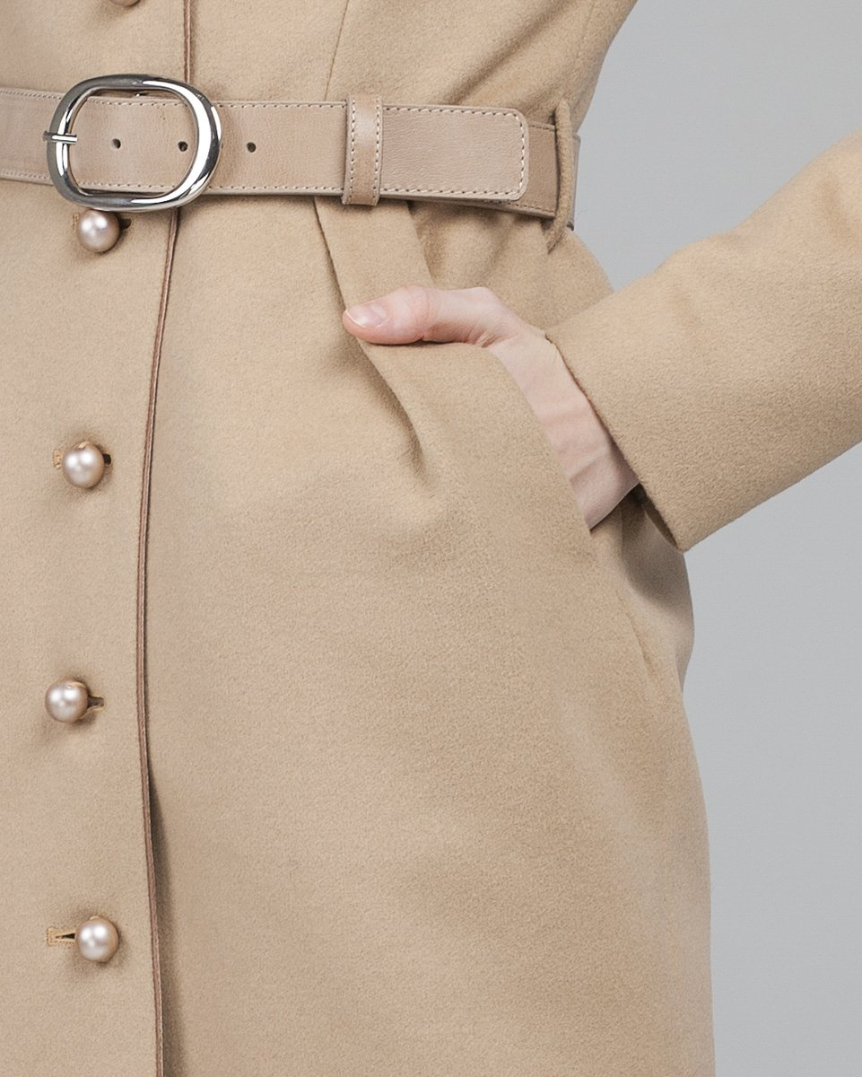 Пальто с юбкой тюльпан
