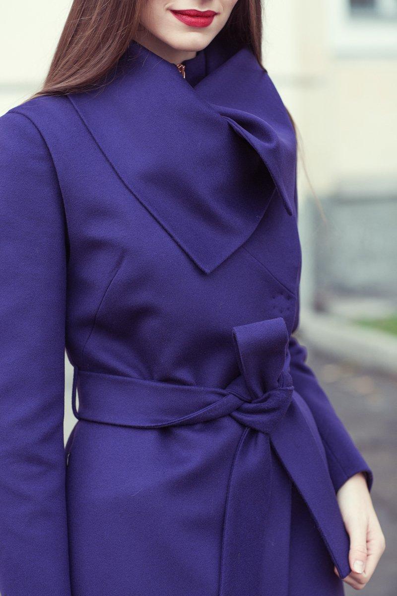 Пальто прямого силуэта со съемным жилетом