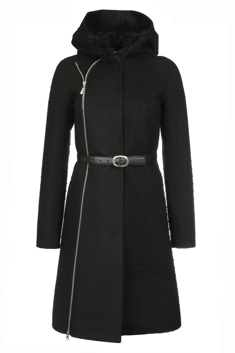 Пальто-трансформер с капюшоном, черное.