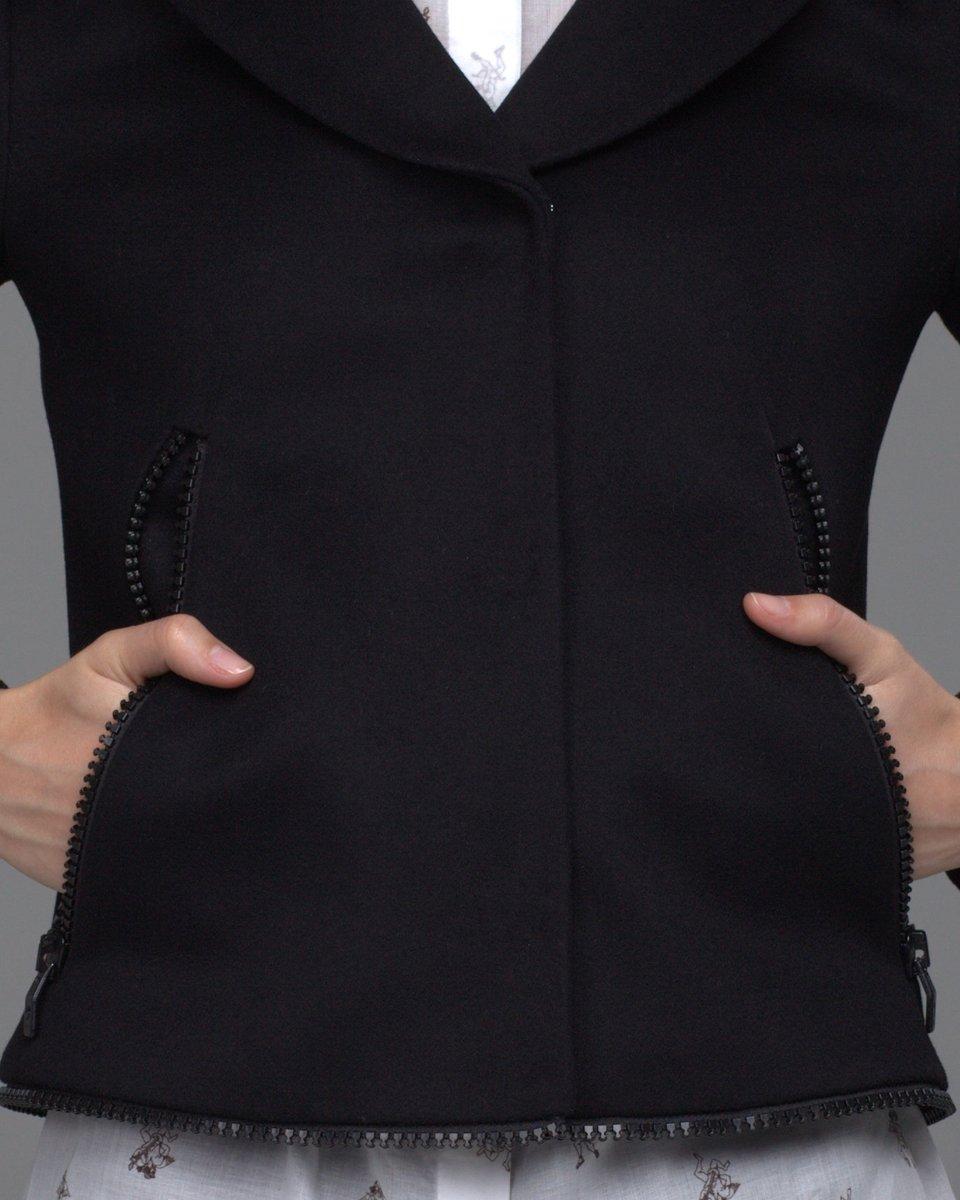 Пальто-трансформер с меховым воротником