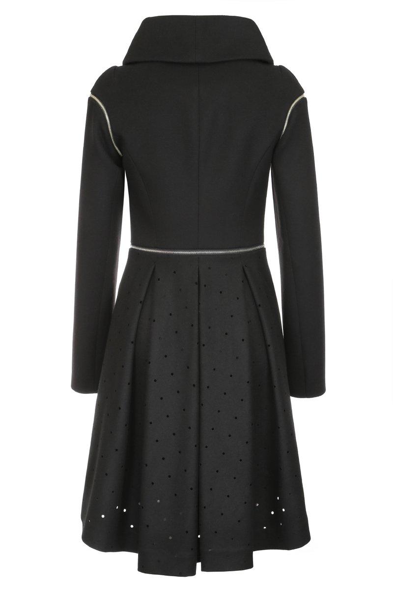 Пальто-трансформер с отстегивающимися рукавами, черное