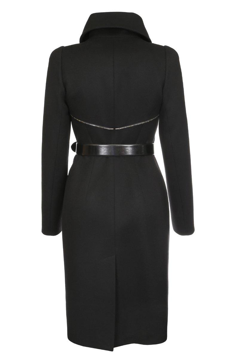 Пальто-трансформер с пристегивающейся юбкой и корсетом, черное.