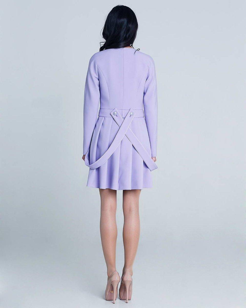 Пальто-трансформер, сиреневого цвета
