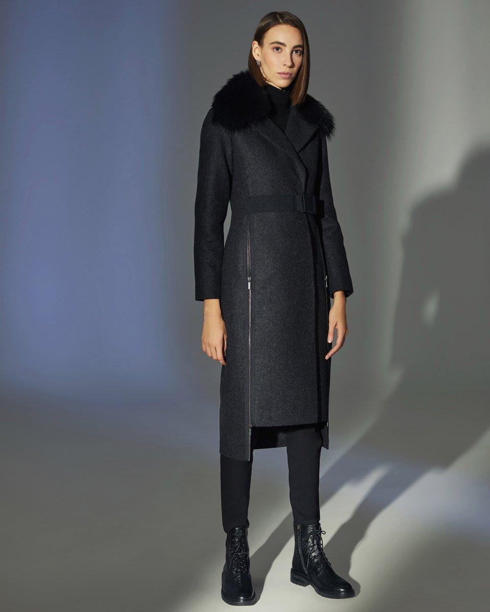 Пальто в спортивном стиле, цвета серый меланж
