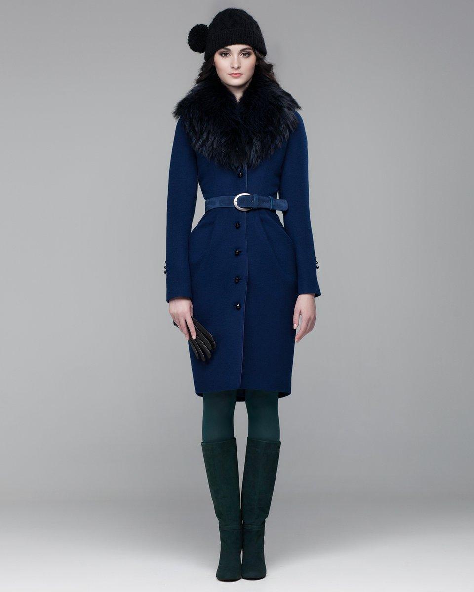 Зимнее пальто с юбкой-тюльпан