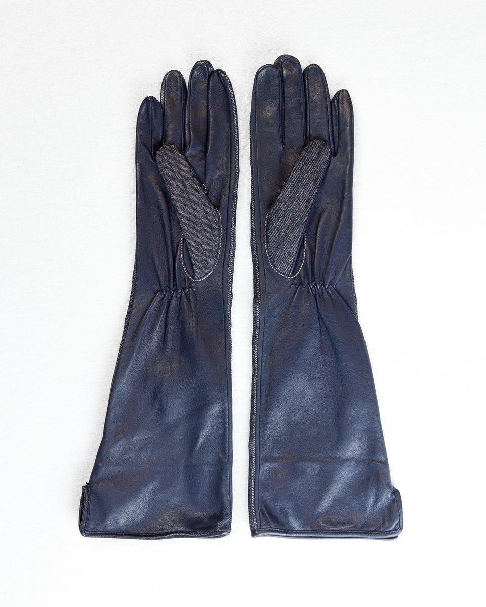 Перчатки с джинсовой вставкой