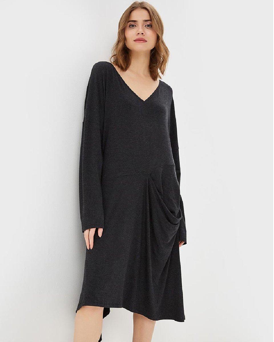 """Платье графитового цвета """"Asymmetric"""""""