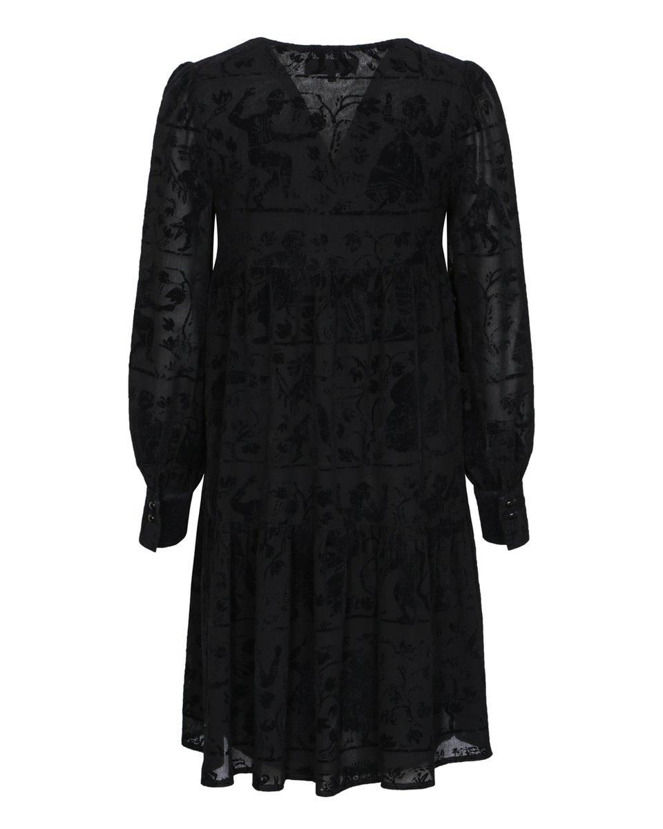 Платье с бархатом и воланом