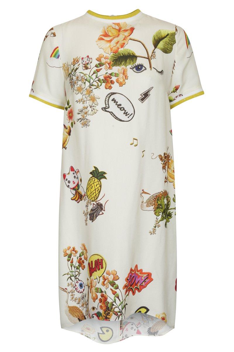 Платье-футболка с ярким принтом
