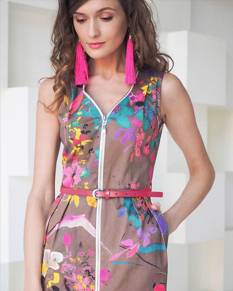 Платье из хлопка с цветочным принтом