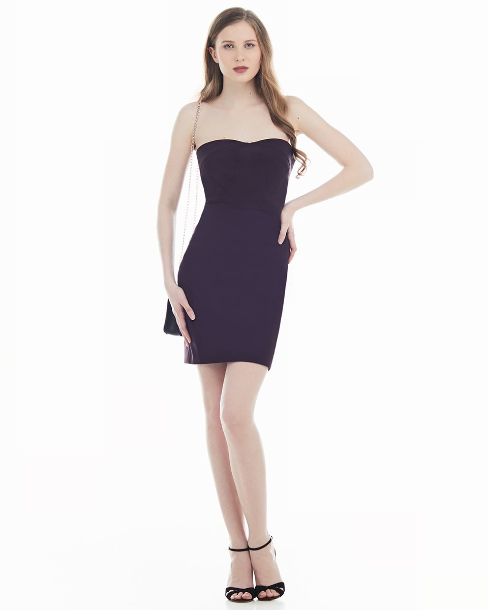 Платье-корсет баклажанового цвета