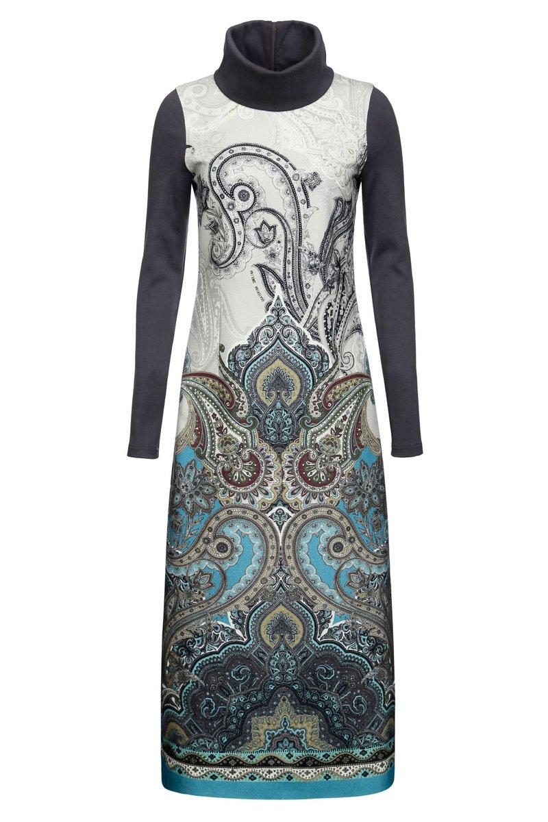 Платье длинное из натуральной шерсти
