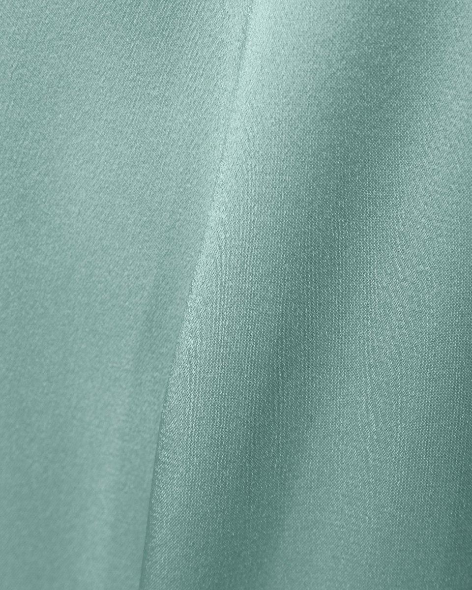 Атласное платье мятного цвета