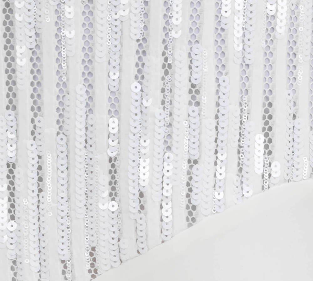 Платье с пайетками, с асимметричным кроем