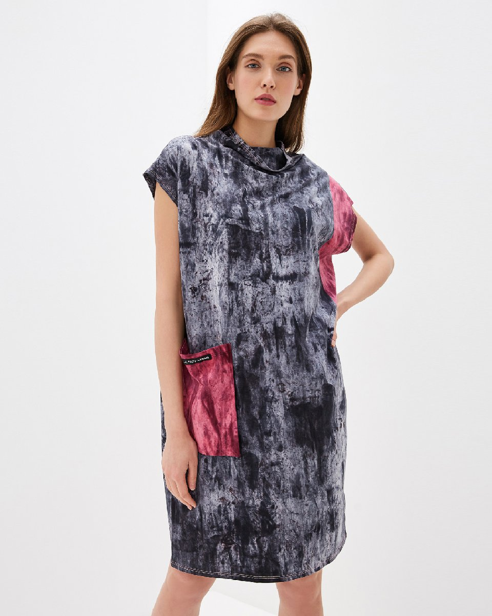 """Платье с принтом тай-дай """"Pocket"""""""