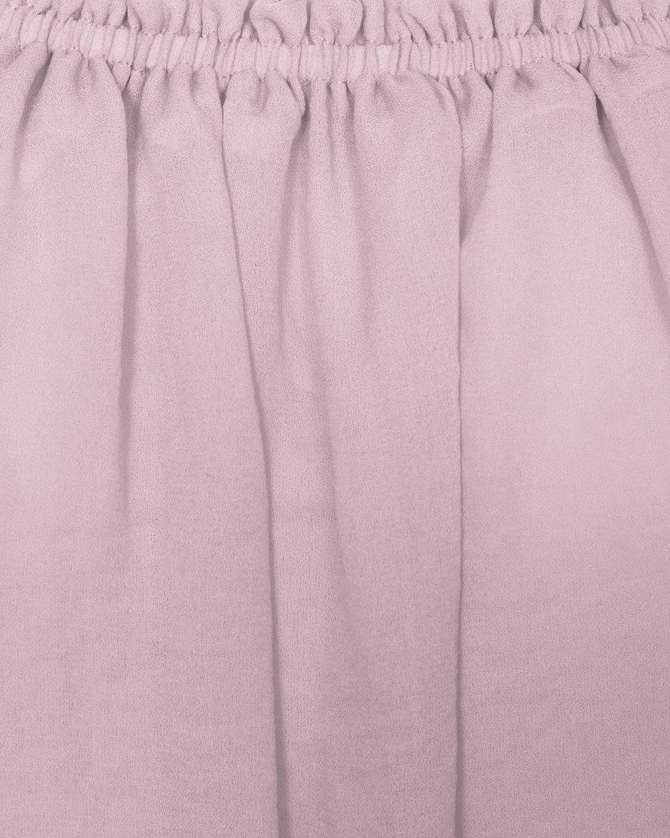 Платье розового цвета из шифона c декоративными кистями