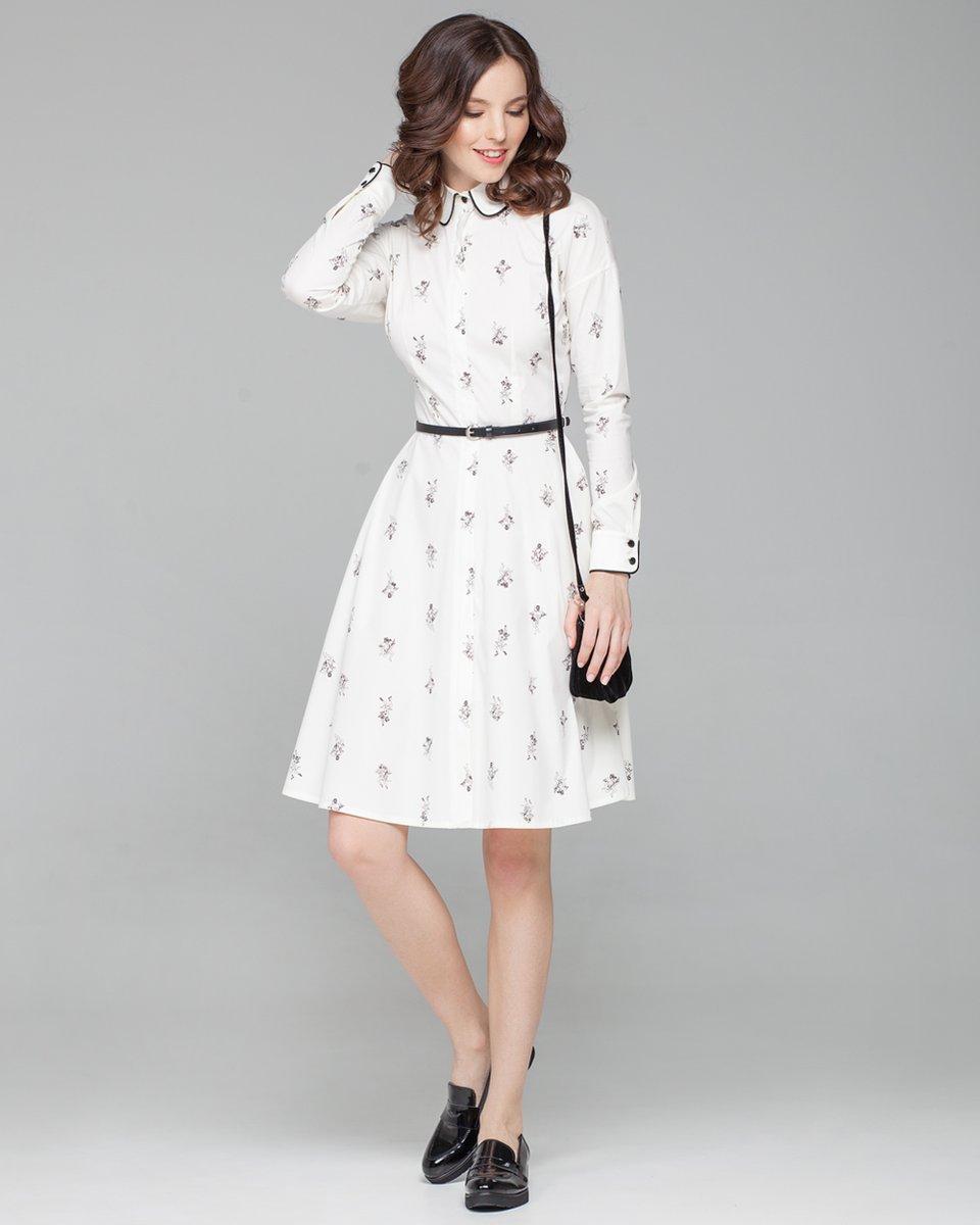 """Платье-рубашка с принтом """"амуры"""""""