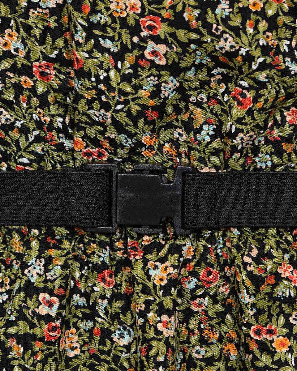 Платье с цветочным принтом и асимметричным низом