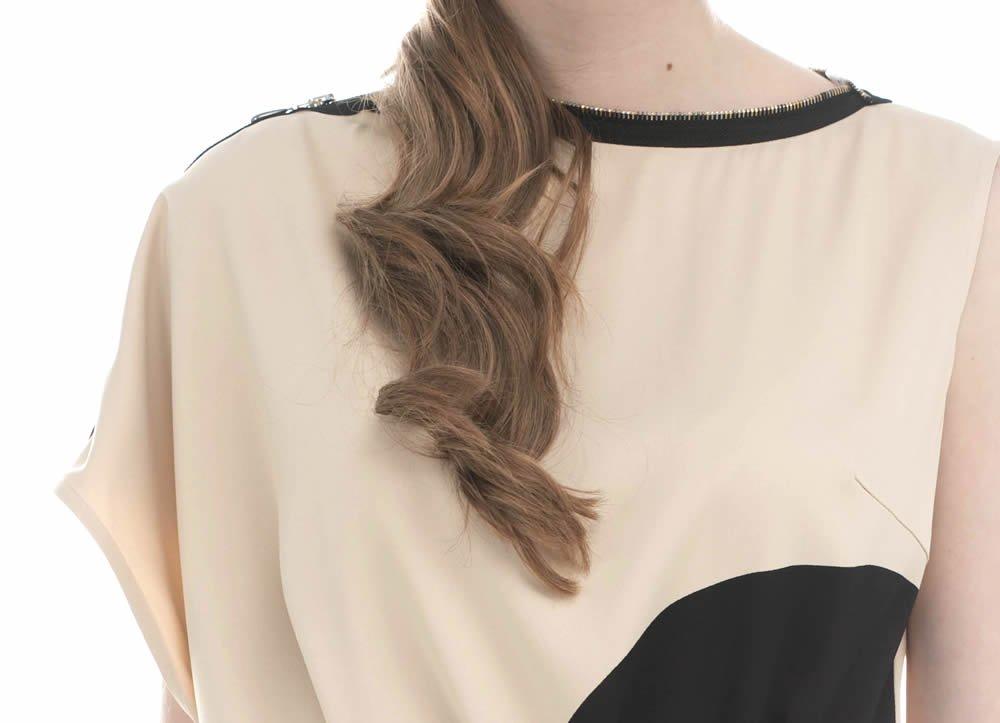 Платье из вискозы, с молнией по рукаву