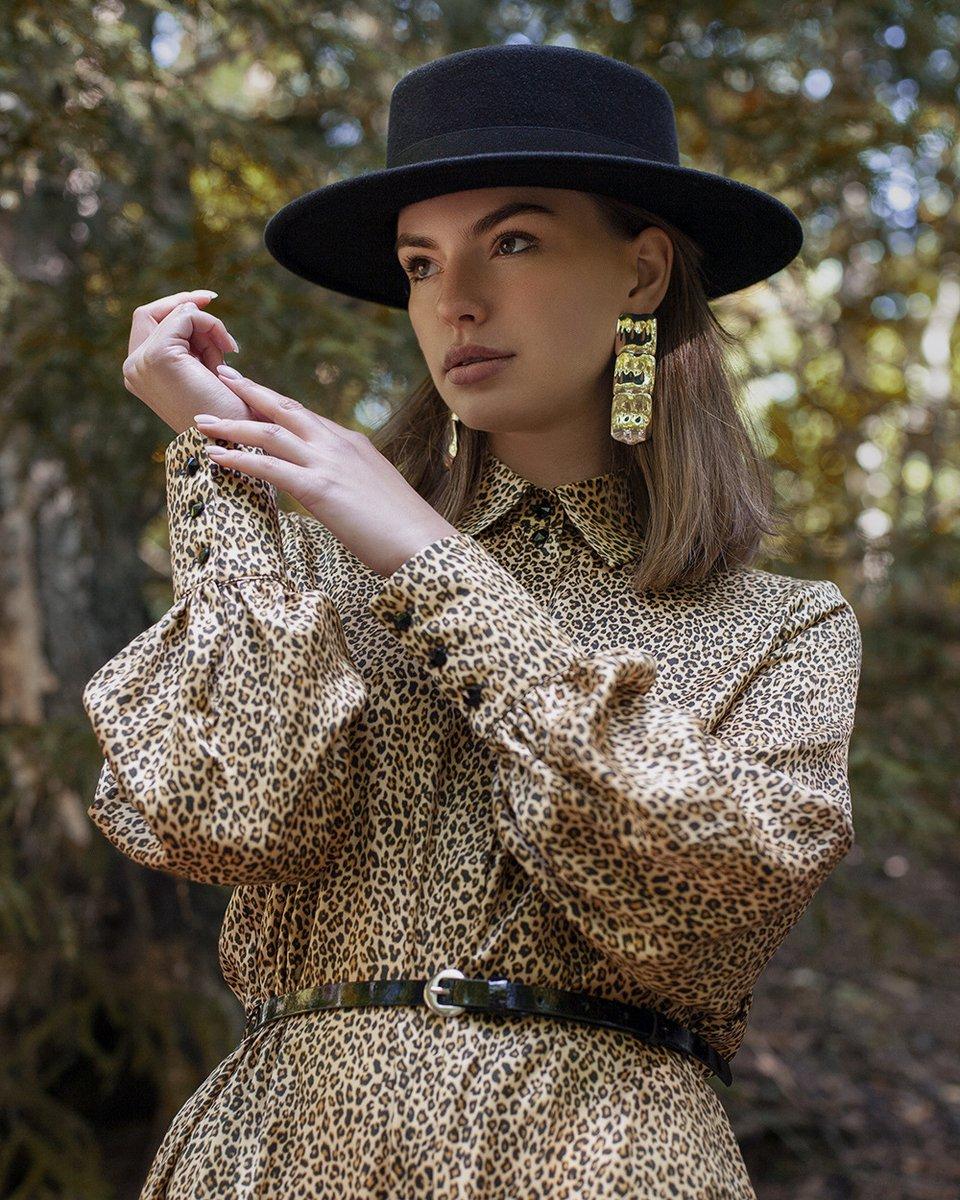 """Платье с принтом """"леопард"""""""
