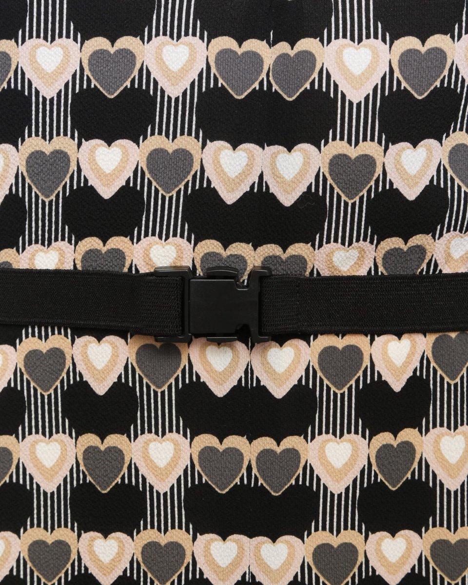 """Платье с принтом """"сердца"""""""