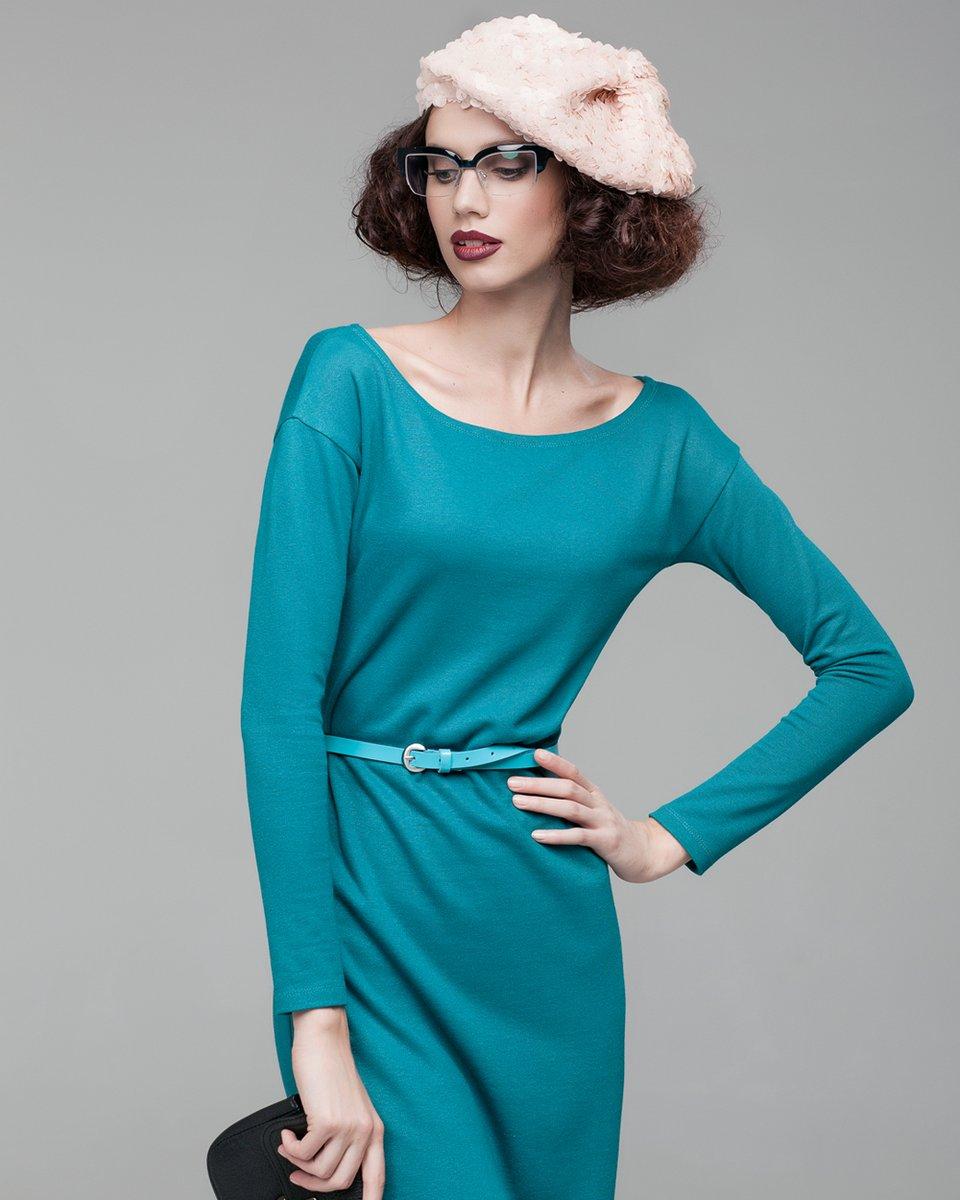 """Платье с вырезом """"лодочка"""""""