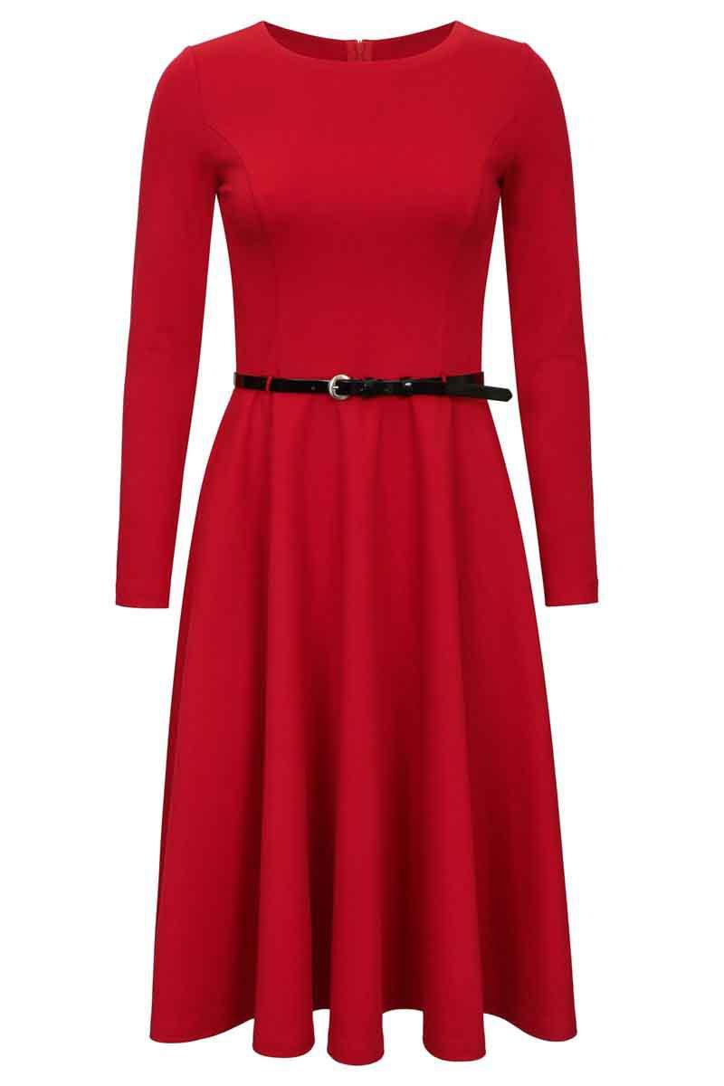 Платье с юбкой-полусолнце