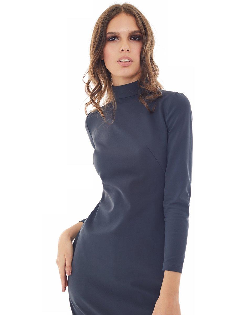 Платье из эластичной ткани, графитового цвета
