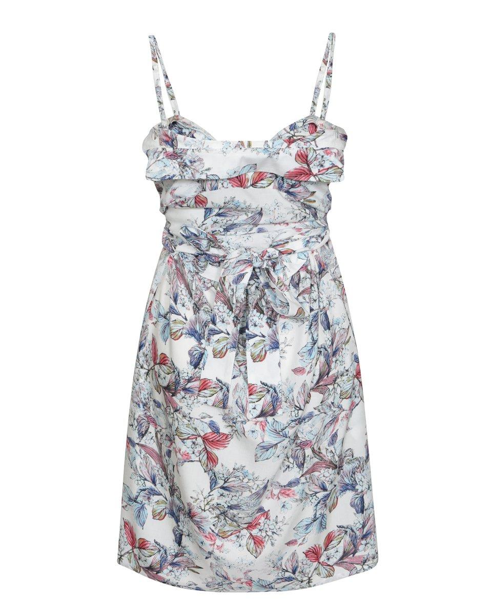 Платье-трансформер белого цвета с растительным принтом