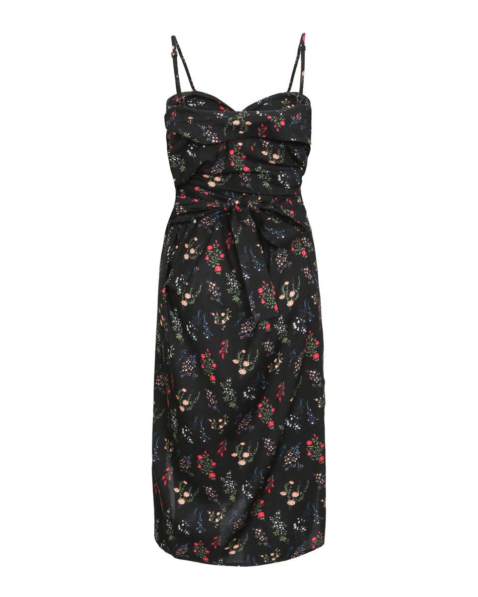 Платье-трансформер черного цвета с цветочным принтом