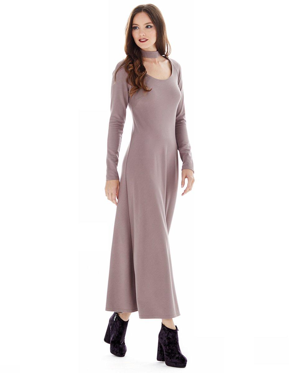 Платье длины миди, цвета мокко